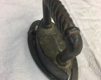 Vintage Sad Cast Iron Minature Iron