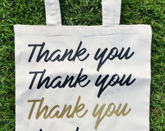 Thank You Reusable Tote Bag