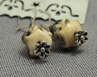 EARRINGS with lampwork beads !lampwork!