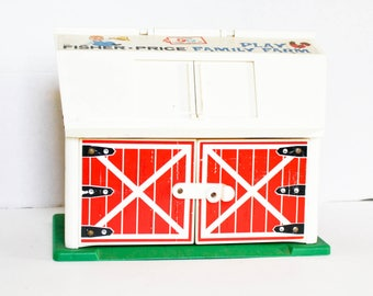 Vintage Fisher Price Farm 60s 70s Moo Sound Play Family Farm Retro Toy Retro Farm Classic Kids Toy