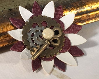 KEYED UP Steampunk Pin