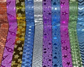 10 PCS DIY Self Adhesive Glitter Washi Masking Tape Sticker Craft Decor 15mm for bullet journals and paper crafts