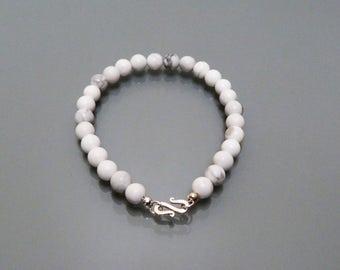 Stone bracelet gemstone Howlite