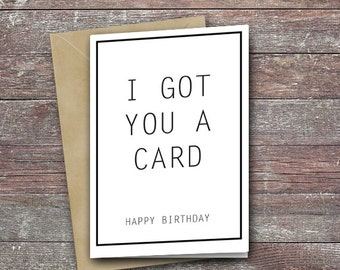 Top birthday card - funny message