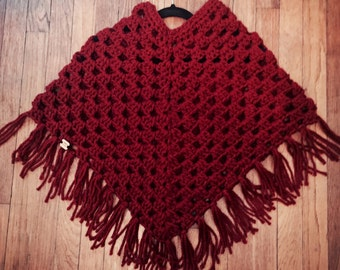 Custom adult sized poncho  you choose color