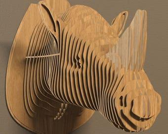Rhino head 3D model,animals ,CNC ,decoration,decorative ,art ,head ,interior,souvenir ,trophy ,wall ,wood, wooden vector graphic,laser