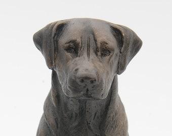 Labrador Sitting - Small Cold Cast Bronze Dog Statue