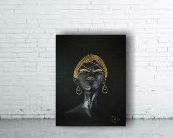 PAINTING ON CANVAS african woman gold on black canvas handmade painting 32""\24'340|270|?|en|2|577a426056d861c1f051c5f6af821bf8|False|UNLIKELY|0.3708483874797821