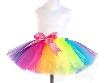 Rainbow Tutu Skirt for Girls, Birthday Special Occasion Fluffy Skirt