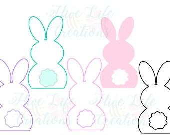 Easter Bunny Digital Download * Cricut Silhouette Download * DXF SVG Png Rabbit File * Bunny SVG Download * Easter Bunny with Tail Cut File