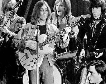 The Rolling Stones – John Lennon - Rolling Stones Poster - Rolling Stones Art – Rolling Stones Print – Rock & Roll - 11x17 (JS0908)