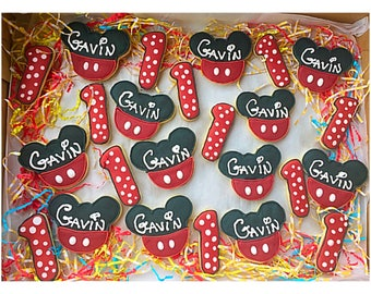 Mickey Mouse Birthday Cookies