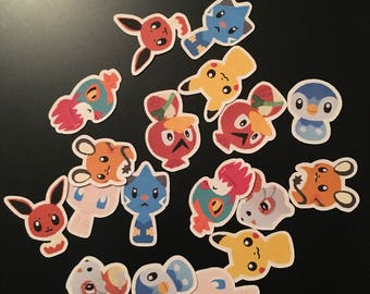 Pokemon doll stickers