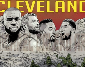 Cleveland Cavaliers Mount Rushmore ( Lebron James , Kevin Love , J.R. Smith , Kyrie Irving )