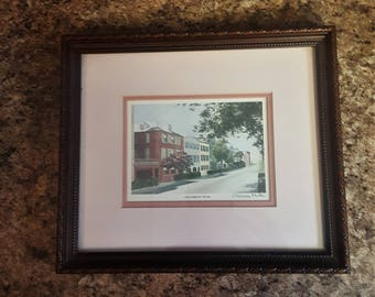 Charleston, SC Rainbow Row By Cherrie Nute, Signed By The Artist, Beautiful Print, Excellent Condition, Wood Frame