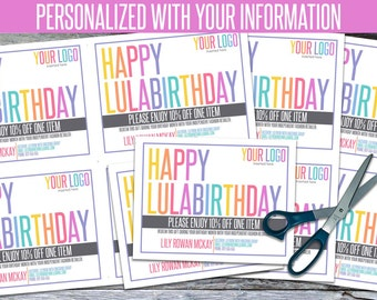 Personalized Birthday Cards! - We add your info, You PRINT! - LLRBD01