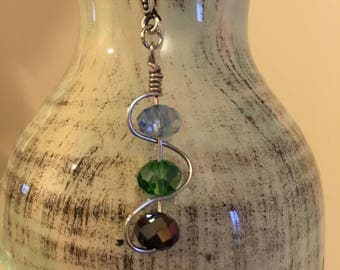 3 Crystal Stone Necklace