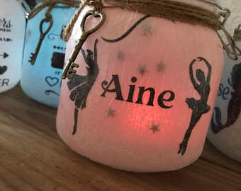 Ballerina light up jar. Perfect gift for Ballerinas and dancers