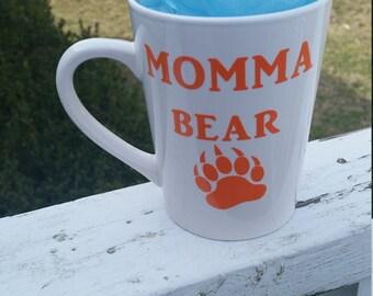 Momma bear coffee cup