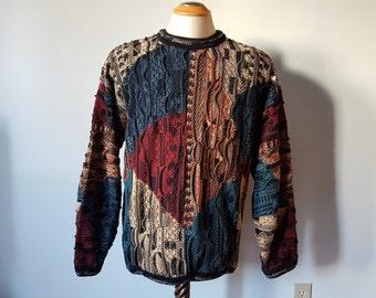 Vintage Tundra Sweater  (Coogi type sweater) Hip Hop Sweater Size L