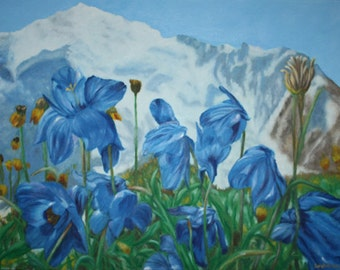 oil painting on milano gallery canvas 18'' x 24'' ''blooming altai''