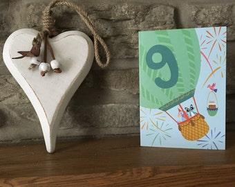 Ninth Birthday Card