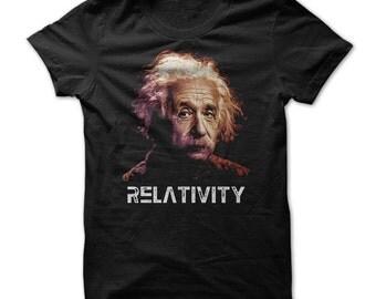 RELATIVITY T-SHIRT.albert einstein relativity t-shirt,funny geek tech t-shirts,cool albert einstein t-shirt,geeks gift,albert einstein fans