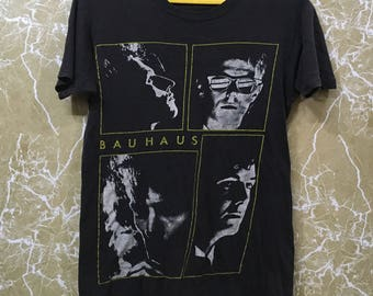 Vintage 80s Bauhaus burning from the inside uk goth punk rock tour 1983 t shirt