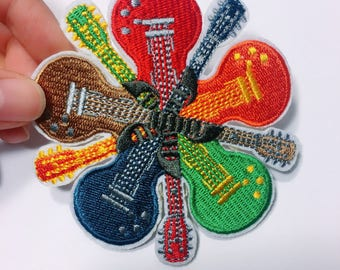 E/guitar /free shipping iron on embroidery patch/music