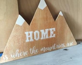MOUNTAIN WALL DECOR/Mountain Wall Art/Mountains/Mountain Decor/Mountain Range/John Muir/Outdoors Decor/Nature Inspired Decor