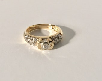 Classic/Vintage Yellow Gold Engagement Ring - 14K