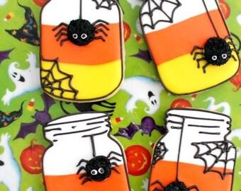 Halloween mason jar cookies
