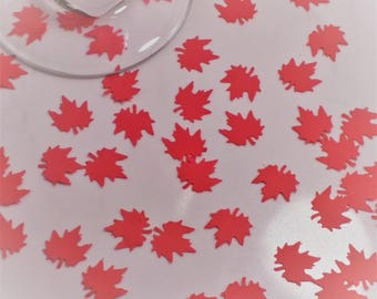 Maple Leaf Confetti Decorations - Canada Day Party - Scrapbooking - Embellishments - Die Cut  - Cards - Birthday