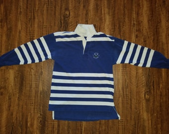 Izod Lacoste Rugby Polo Shirt Long Sleeve Vintage 1980s