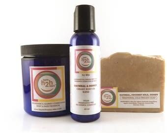 Oatmeal Milk and Honey Soap, Natural Skincare, All Natural Soap, Sensitive Skin, Coconut Milk Soap, Bath and Body