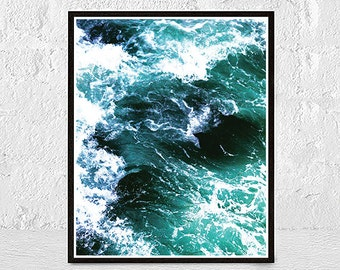 Ocean Print, Beach Wall Art, Ocean Wall Art, Ocean Wave, Beach Print, Water Print, Sea Art, Sea Print, printable large poster
