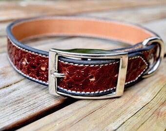 Leather Dog Collar- size medium