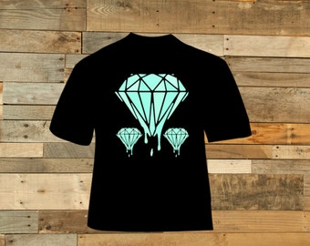 Teal Dripping Diamonds Tshirt