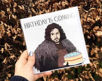 "Game Of Thrones Birthday Card ""Birthday Is Coming"""