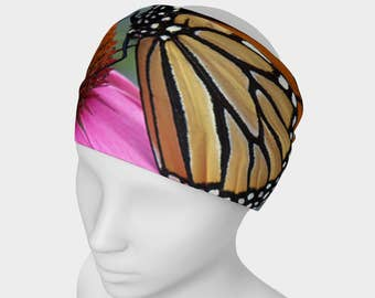 Monarch Butterfly, Headband, hair fashion, head wear, neck scarf, monarch, butterfly, butterfly headband, monarch headband, insect