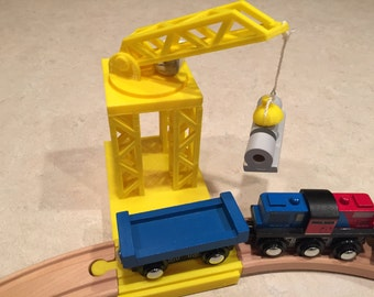 Wooden Train Set 3D Printed Crane