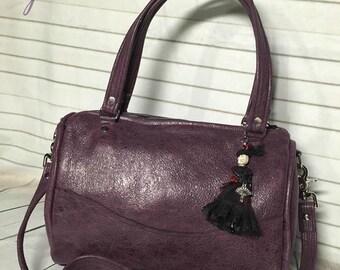 Small Barrel Style Handbag - Choose Your Leather/Fabrics!