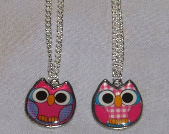 Colourful Owl Pendant Necklaces