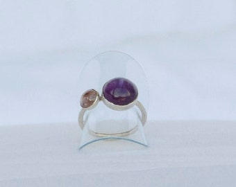 Ring Amethyst and Tourmaline