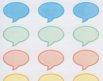Speech Bubble Oval | 160 | Planner Sticker | Kikki-K | Happy Planner | Erin Condren