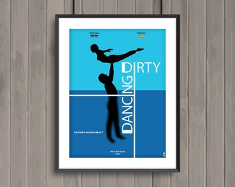 DIRTY DANCING, minimalist movie poster