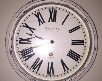 White rustic clock