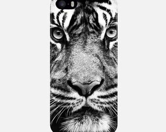 Tiger iPhone Case, Black White iPhone 6 Case, iPhone 7 Case, iPhone 6 Plus Case, iPhone 5s Case, iPhone 7 Plus Case, iPhone 5C Case