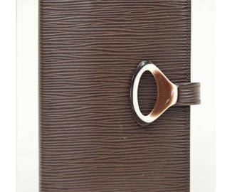 Louis Vuitton Diary Cover Epi Brown
