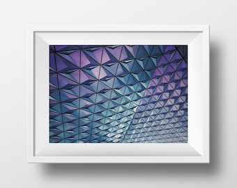 Architecture Print, Urban Art, Architectural Photography, Art, Framed photo, Building Photography, Print, Instant Download Art, Purple Art
